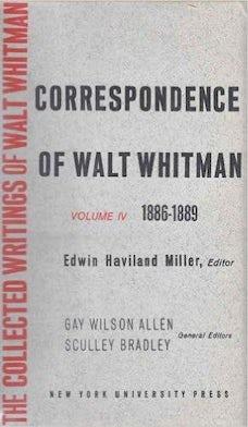 The Correspondence of Walt Whitman (Vol. 5)