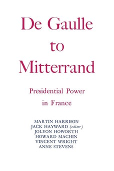 Degaulle to Mitterrand