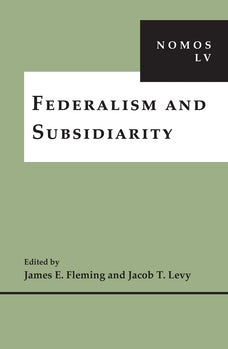 Federalism and Subsidiarity